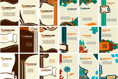 2套时尚古典风格卡片模式矢量素材