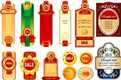 各种精美销售装饰标签矢量素材