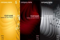 3色商务风格名片模板矢量素材