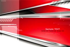 一款简约立体商务风格桌面背景矢量素材