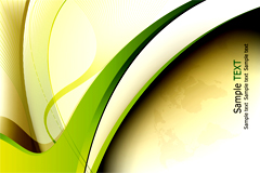 绿色动感线条商务背景矢量素材