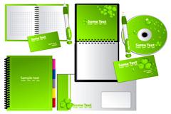 清新绿色企业VI模板设计矢量素材