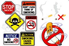 各种禁止吸烟标志矢量素材