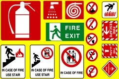 各种消防标志矢量素材