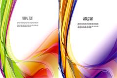2款炫彩动感线条背景矢量素材