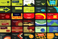 80款潮流个性卡片模式矢量素材