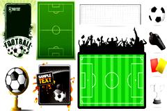 足球运动主题相关元素矢量素材