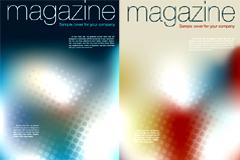 2款幻彩杂志封面背景矢量素材
