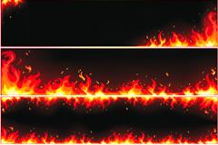 潮流火焰矢量素材