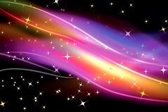 2款超酷炫彩线条星光背景矢量素材