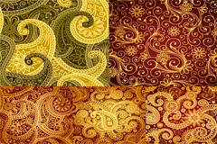 5款精美古典花纹背景矢量素材
