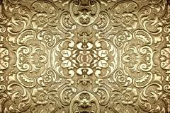 金属质感浮雕花纹背景矢量素材