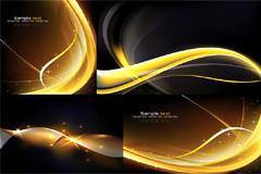 炫目动感线条光感背景矢量素材