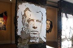 墙壁人物肖像画