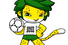 2010年南非世界杯吉祥物矢量素材