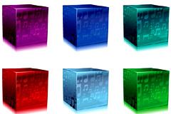 音乐主题水晶立方体矢量素材