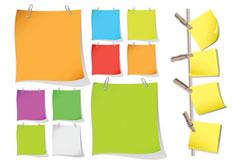 彩色便签纸矢量素材