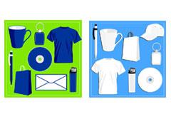 空白VI设计与常用物品矢量素材