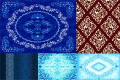 5款精美实用装饰花纹背景矢量素材