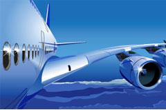 飞机与天空矢量素材