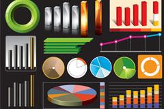 各种统计系列矢量素材