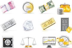 银行与投资矢量素材