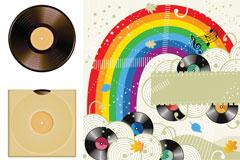 彩色音乐系矢量素材