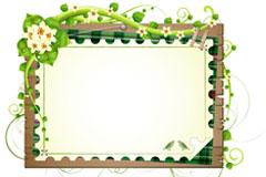 绿色藤蔓装饰边框矢量素材