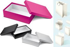 各种包装纸盒矢量素材