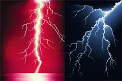 红蓝闪电矢量素材