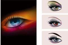美丽眼睛矢量素材