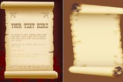 两款逼真的旧牛皮纸矢量素材