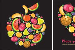 多款水果矢量素材