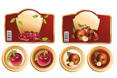实用的苹果樱桃标签矢量素材