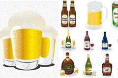 各种啤酒矢量素材
