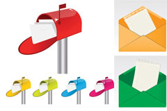 传统邮箱矢量素材