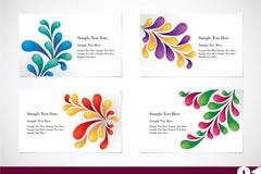 五颜六色的卡片模板矢量素材