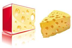 奶酪矢量素材