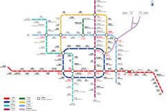 北京地铁交通矢量素材