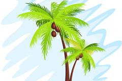 夏日椰树矢量素材