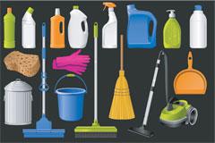 清洁用品图标矢量素材