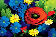 明亮花朵背景矢量素材