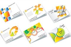 立体图像卡片矢量素材
