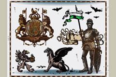 数款个性古代纹章矢量素材