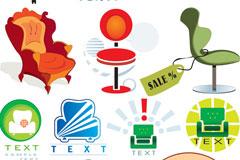 各种椅子图形矢量素材
