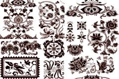 中国古典传统花纹矢量素材