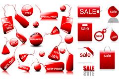精美立体质感销售打折图标矢量素材