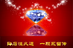 璀璨钻石海报矢量素材