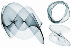 抽象薄纱矢量素材
