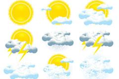 各种天气预报图标矢量素材
